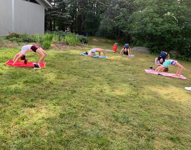 Yoga at camp